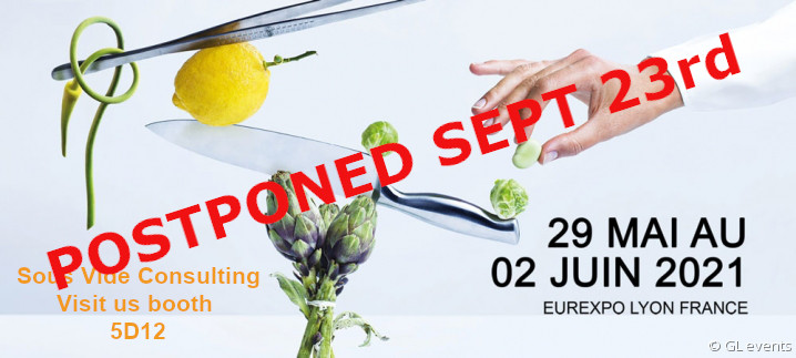 Sous Vide Consulting - Booth 5D12 Sirha 2021- Postponed September 23rd