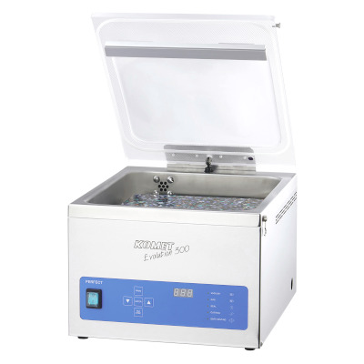 Table-style vacuum chamber machine Komet Evolution 300 Plus sold by Sous Vide Consulting