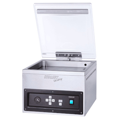 Table-style vacuum chamber machine Komet Vacuboy sold by Sous Vide Consulting