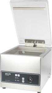 Vacuum chamber sealer machine SVC 250 Premium front view, suitable to vacuum liquids and juicy foodstuff