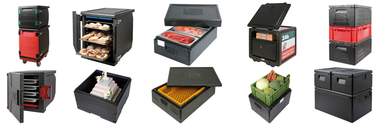 Thermobox for caterer, restuarant, butcher, delicatessen, bakery, ice cream, pizza, logistic, fruits and vegetables