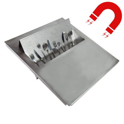 Big size MAGNETIC cutlery catcher for 18/0 cutlery (ferritic).
