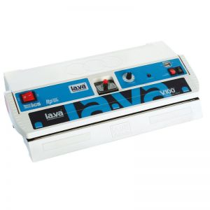 LAVA V100 Premium clamp machine, vacuum sealer machine: double sealing bar, Made in Germany