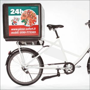 Thermobox delivery bike or scooter. 100 L made of EPP. Light 4.6 kg and much schock resistant compared to plastic delivery boxes.
